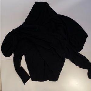 Heavyweight 100% cashmere wrap sweater new